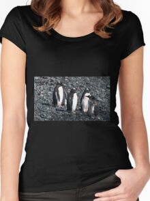 Wrong Way Penguin Women's Fitted Scoop T-Shirt