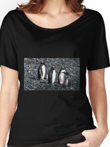 Wrong Way Penguin Women's Relaxed Fit T-Shirt