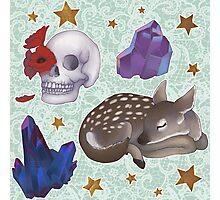 Crystal Skull Pattern Photographic Print