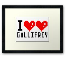 I heart heart gallifrey Framed Print