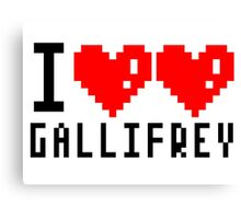 I heart heart gallifrey Canvas Print