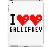 I heart heart gallifrey iPad Case/Skin