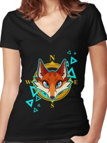 Fox Head Women's Fitted V-Neck T-Shirt