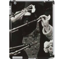 Flowers in Guns BK and WT iPad Case/Skin