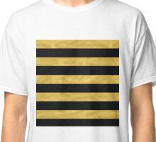 Elegant Black & Gold Stripe Classic T-Shirt