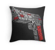 Word gun Throw Pillow