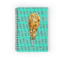 Charming Feather  Spiral Notebook