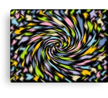 Pastel Splashes Canvas Print