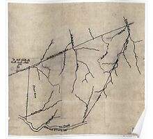138 Dr Hales map of Cabin Creek lands Poster