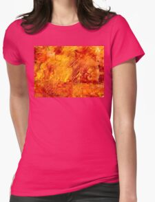 Earth Patterns 3 - Autumn Gold Womens Fitted T-Shirt
