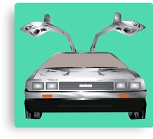 DMC DeLorean Canvas Print