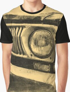 Vintage Old Classic Car Headlight Graphic T-Shirt