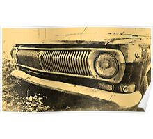 Vintage Old Classic Car Headlight Poster