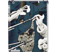 Flowers in Guns Blue Shade iPad Case/Skin