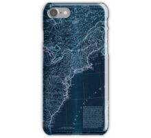American Revolutionary War Era Maps 1750-1786 951 The United States of America with the British possessions of Canada Nova Scotia New Brunswick and Inverted iPhone Case/Skin