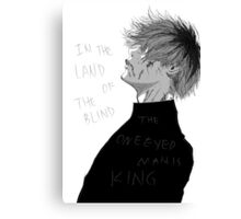One Eyed King Canvas Print
