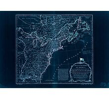 American Revolutionary War Era Maps 1750-1786 951 The United States of America with the British possessions of Canada Nova Scotia New Brunswick and Inverted Photographic Print