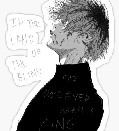 One Eyed King Sticker