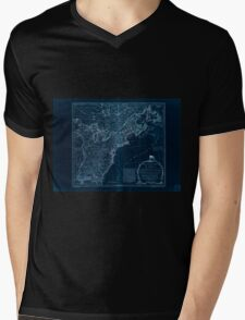 American Revolutionary War Era Maps 1750-1786 951 The United States of America with the British possessions of Canada Nova Scotia New Brunswick and Inverted Mens V-Neck T-Shirt