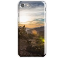 Sunset Glare over Joshua Tree iPhone Case/Skin