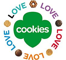 girl scouts cookies Photographic Print