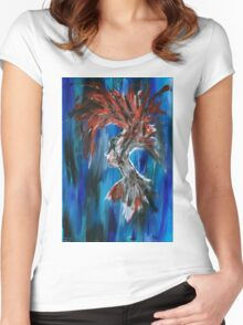 Abstract Silhouette Women's Fitted Scoop T-Shirt