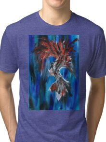 Abstract Silhouette Tri-blend T-Shirt
