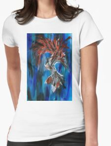 Abstract Silhouette Womens Fitted T-Shirt