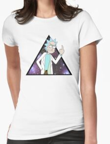 Rick and morty space 2 Womens Fitted T-Shirt