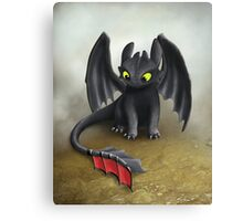 Toothless Dragon inspired from How To train Your Dragon. Canvas Print