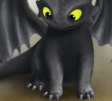Toothless Dragon inspired from How To train Your Dragon. Sticker