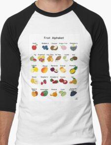 fruit A B C Men's Baseball ¾ T-Shirt