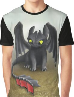 Toothless Dragon inspired from How To train Your Dragon. Graphic T-Shirt