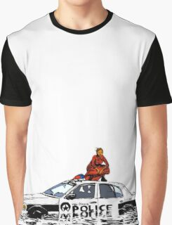 Beyonce Police Car Formation Graphic T-Shirt