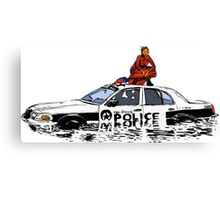Beyonce Police Car Formation Canvas Print