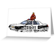 Beyonce Police Car Formation Greeting Card