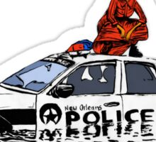 Beyonce Police Car Formation Sticker