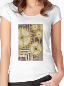 gears and pipes Women's Fitted Scoop T-Shirt