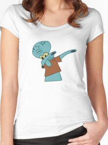 Squidward Dab Women's Fitted Scoop T-Shirt