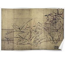 076  Sketch map of the vicinity of Roanoke Virginia Poster