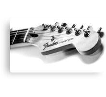 Fender Stratocaster Guitar Headstock Canvas Print