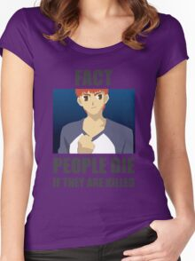 People Die if They are Killed! FACT Women's Fitted Scoop T-Shirt