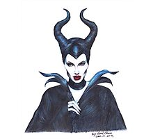 Maleficent drawing Photographic Print