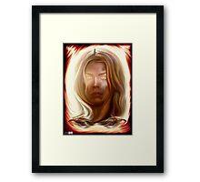 I Am the Bad Wolf. I Create Myself. Framed Print