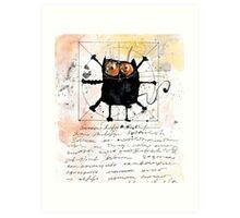 Cat da Vinci Art Print