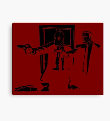 Dead Fiction - Black #1 Canvas Print