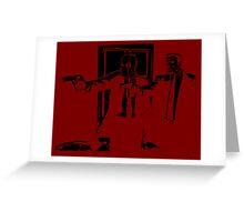 Dead Fiction - Black #1 Greeting Card