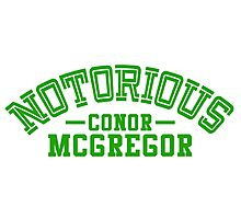 Conor McGregor College Design_01 Photographic Print