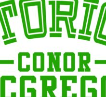 Conor McGregor College Design_01 Sticker