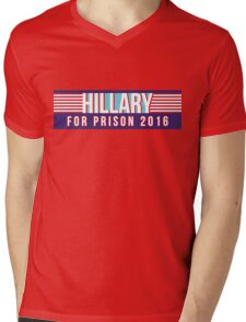 Hillary For Prison 2016 Mens V-Neck T-Shirt